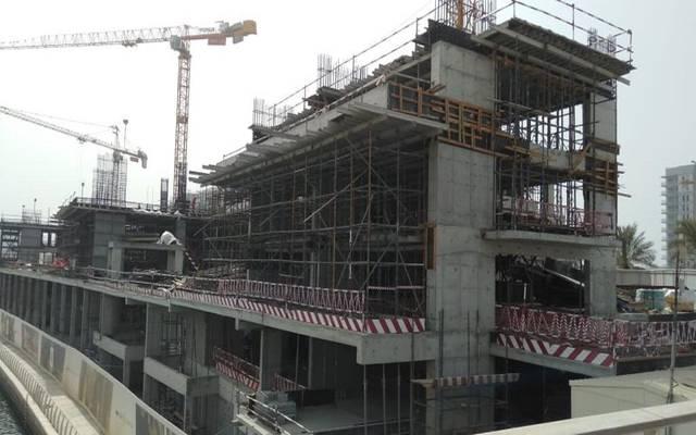 جانب من الأعمال الانشائية بأحد مشروعات الشركة في أبوظبي