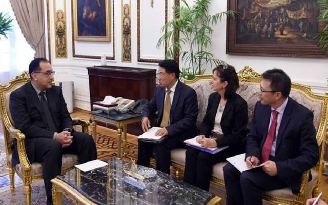 جانب من لقاء رئيس الوزراء بمدير اليونيدو والوفد المرافق له