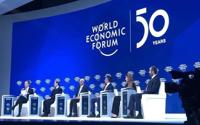 جانب من مشاركة وزير الطاقة السعودي الأمير عبدالعزيز بن سلمان وعدد من الوزراء بالمملكة في منتدى دافوس