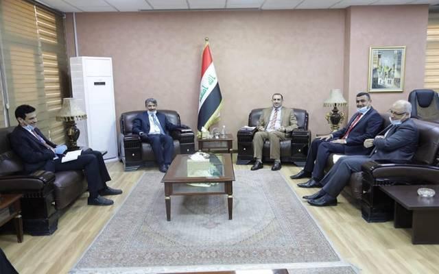 خلال استقبال وزير التخطيط العراقي، خالد بتال النجم، سفير دولة الكويت لدى العراق