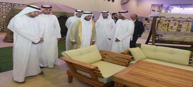 خلال افتتاح المعرض