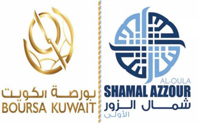 """شعار شركتي """"بورصة الكويت"""" و""""شمال الزور"""""""