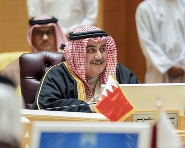 جانب من مشاركة وزير الخارجية البحريني في الاجتماع
