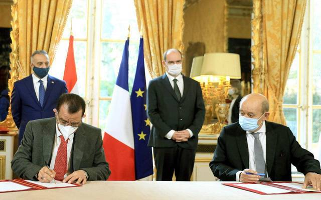 Iraq signs 3 notes with France ... including the construction of the Baghdad Sky Train