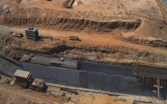 أعمال البنية التحتية بالعاصمة الإدارية