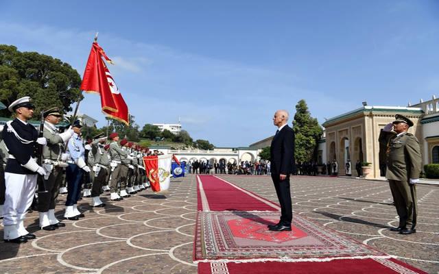 الرئيس التونسي الجديد قيس سعيد بقصر قرطاج