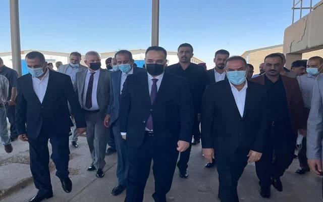 وزير التجارة العراقي علاء الجبوري خلال زيارته الى محافظة المثنى