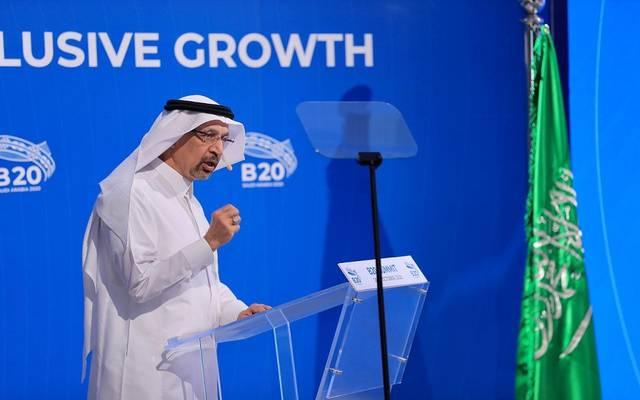 وزير الاستثمار السعودي خالد الفالح خلال قمة مجموعة الأعمال 20