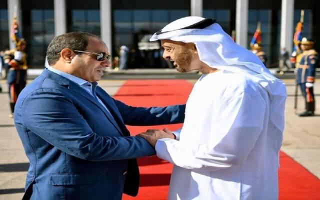 الرئيس عبد الفتاح السيسيوولي عهد أبوظبي