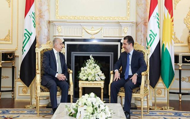 رئيس حكومة إقليم كردستان، مسرور بارزاني، يستقبل وزير الخارجية العراقي محمد علي الحكيم