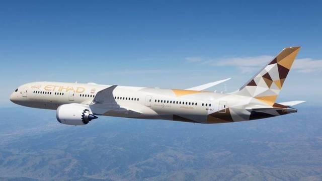 طائرة مملوكة لشركة الاتحاد للطيران