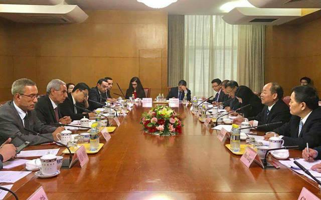 وزير التجارة والصناعة طارق قابيل، خلال الاجتماع الوزاري الثاني للجنة رفع القدرات الإنتاجية بين مصر والصين ببكين
