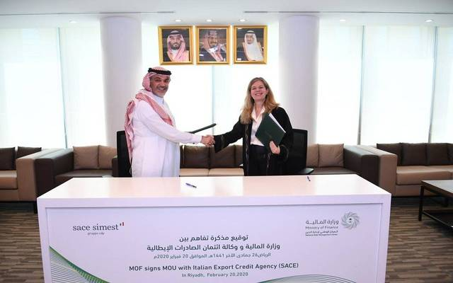 Saudi gov't inks MoU with Italian Export Credit Agency