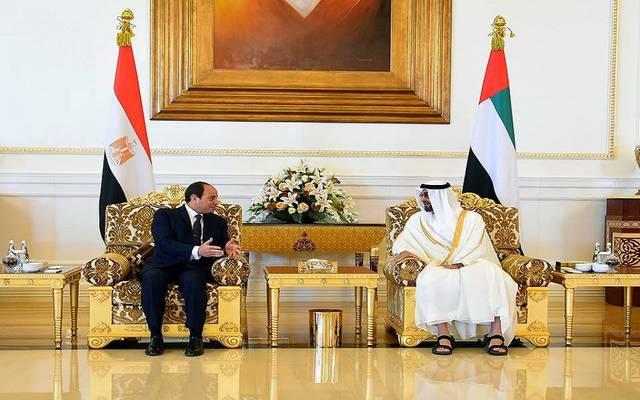 الررئيس السيسي خلال لقاء نائب رئيس الإمارات