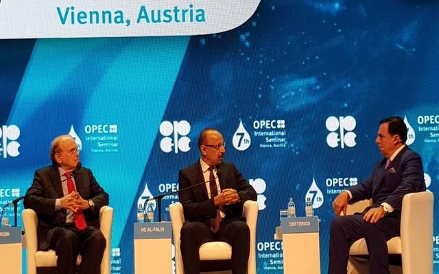 وزير الطاقة والصناعة والثروة المعدنية السعودي خالد الفالح خلال اللقاء