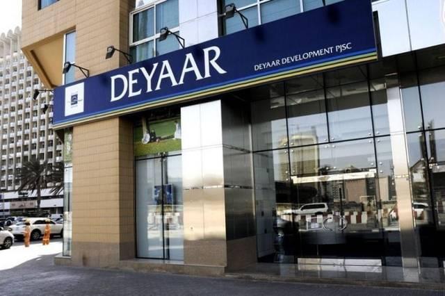 Deyaar has paid a total amount of AED 411.966 million