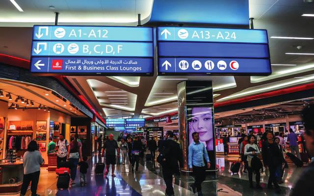 صورة من داخل مطار دبي