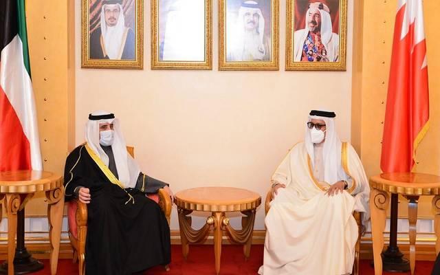 جانب من اللقاء بين الوزيرين في المنامة