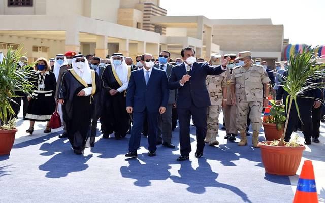 الرئيس عبد الفتاح السيسي وأمير تبوك يفتتحان جامعة الملك سلمان