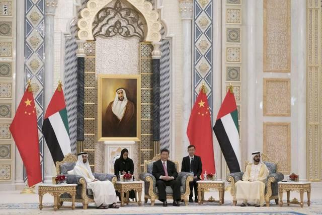 صورة من زيارة الرئيس الصيني إلى الإمارات سابقاً