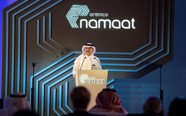 رئيس أرامكو السعودية وكبير إدارييها التنفيذيين، أمين حسن الناصر، خلال الكشف عن تفاصيل برنامج (نماءات أرامكو) للاستثمارات الصناعية