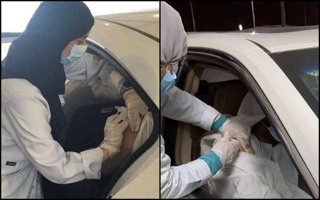 """""""الصحة"""" السعودية تدشن خدمة التطعيم ضد فيروس كورونا داخل السيارة"""
