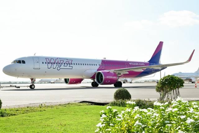 """الطائرة التابعة لشركة """"Wizz Air"""""""