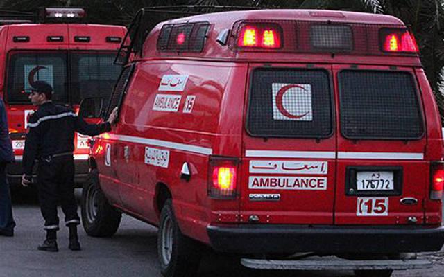 سيارة إسعاف تابعة لوزارة الصحة المغربية