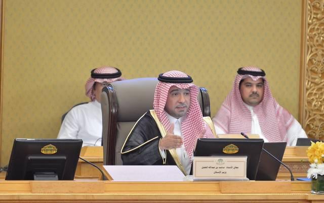 وزير الإسكان السعودي ماجد الحقيل خلال كلمته في مجلس الشورى اليوم الأربعاء