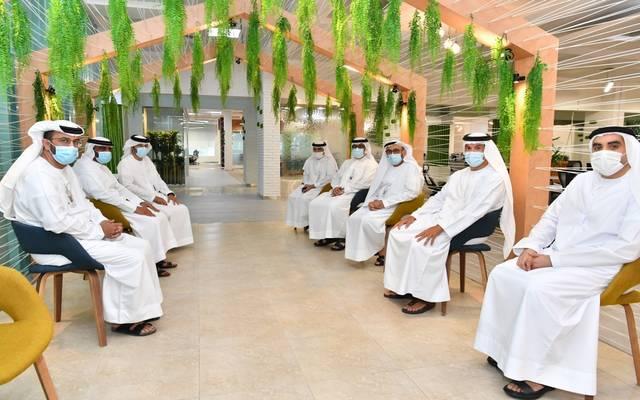 جانب من اجتماع إقامة دبي مع دائرة السياحة بدبي