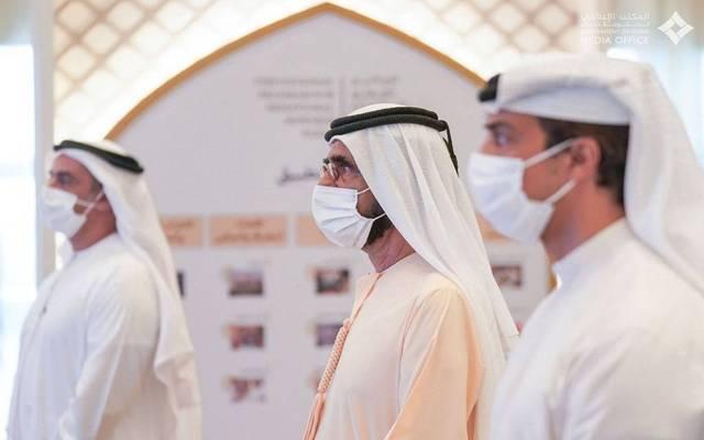 الشيخ محمد بن راشد آل مكتوم رئيس مجلس الوزراء الإماراتي خلال إطلاق البرنامج الوطني للمكافآت السلوكية
