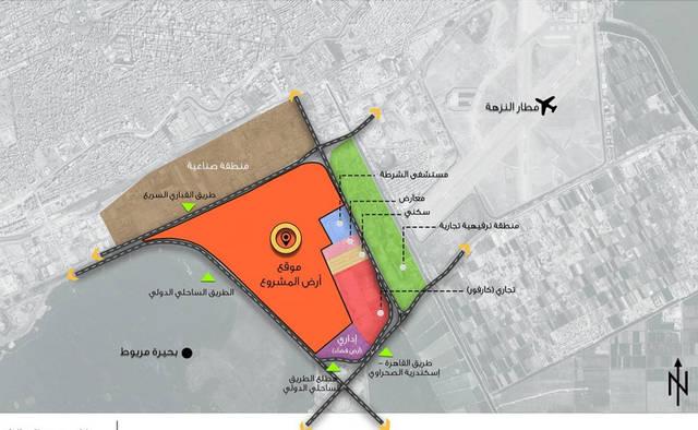 مخطط للمدينة الجديدة