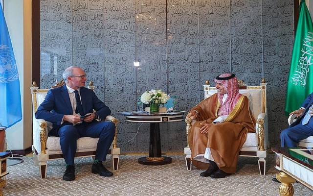 الأمير فيصل بن فرحان بن عبدالله ووزير الخارجية في جمهورية إيرلندا