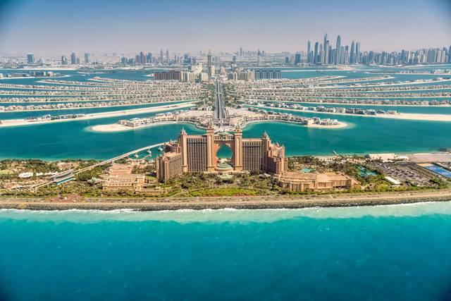 أحد المعالم السياحية في دبي
