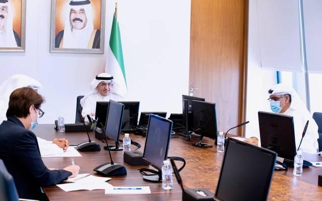"""جانب من مشاركة """"الكويت المركزي"""" في الاجتماع التشاوري عبر تقنية الاتصال المرئي"""