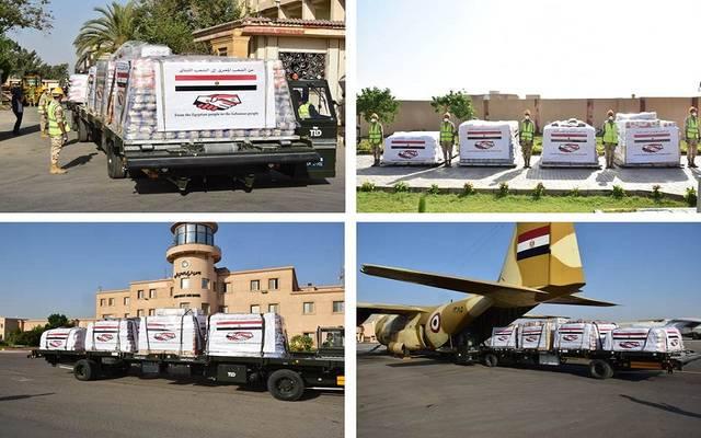شحنة المساعدات المصرية الثانية إلى لبنان