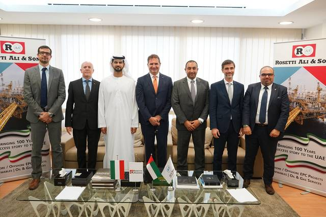 Top officials from ASMEF and Italian Rosetti Marino Group