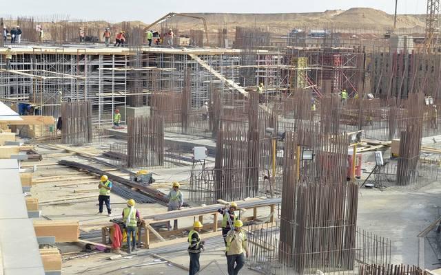 أعمال بناء بالعاصمة الإدرية الجديدة
