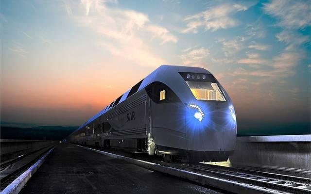 أحد قطارات الشركة السعودية للخطوط الحديدية- سار الليلي