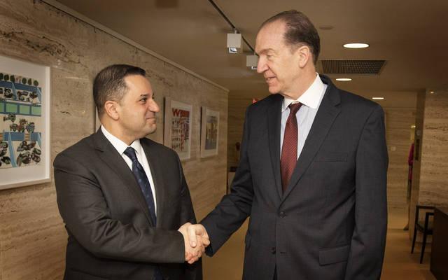 جانب من لقاء وزير المالية الأردني مع رئيس مجموعة البنك الدولي