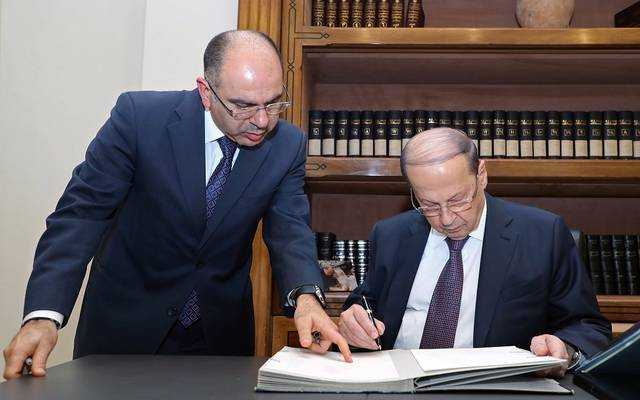 الرئيس اللبناني يوقع على تشكيل الحكومة الجديدة