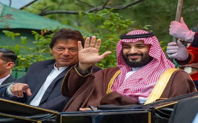 ولي العهد السعودي برفقة رئيس الوزراء الباكستاني في إسلام آباد