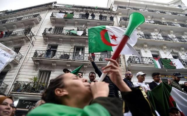 صورة لأحد التظاهرات في الجزائر