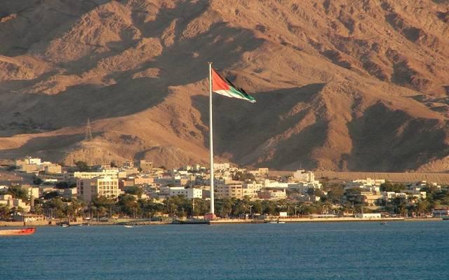 جانب من السواحل الأردنية