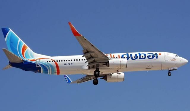 أحد طائرات شركة فلاي دبي