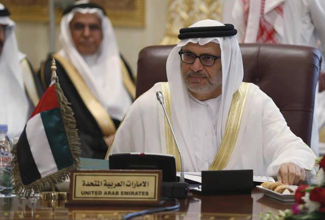 أنور قرقاش وزير الدولة الإماراتي للشئون الخارجية