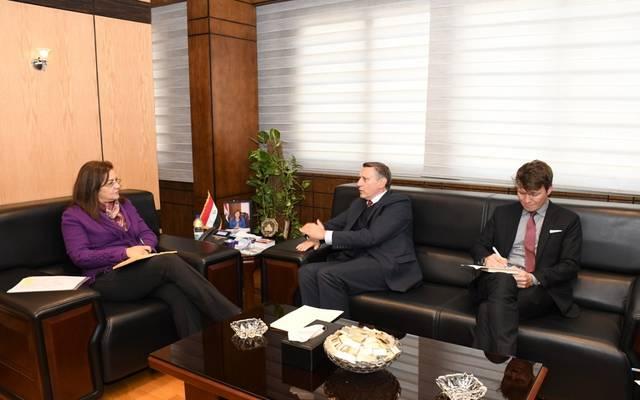 جانب من لقاء وزيرة التخطيط المصرية مع السفير الألماني بالقاهرة