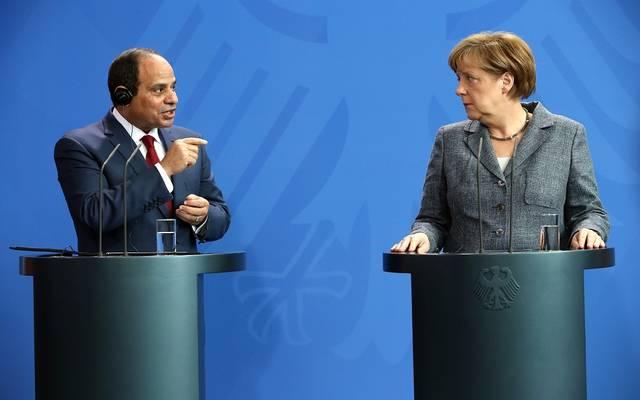 الرئيس عبد الفتاح السيسي مع المستشارة الألمانية أنجيلا ميركل- أرشيفية