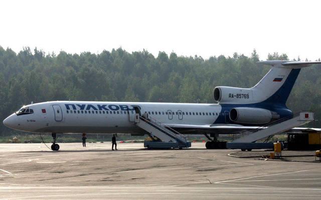 طائرة في مطار بولكوفو الروسي