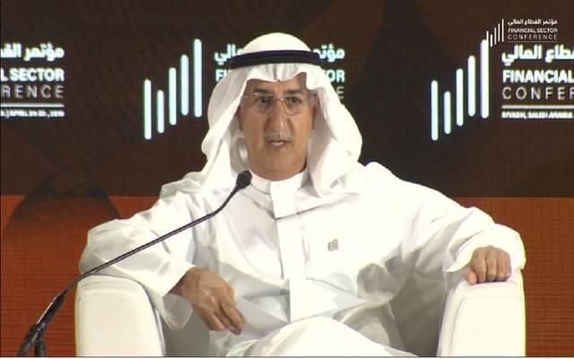 فهد المبارك، وزير وزير الدولة وعضو مجلس الوزراء وممثل السعودية بمجموعة العشرين خلال مؤتمر القطاع المالي 2019